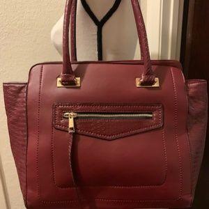 Red faux Croc handbag
